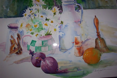 Still Life with Red Onions